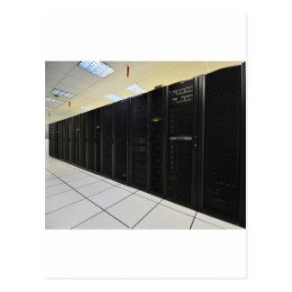 data center computers postcard