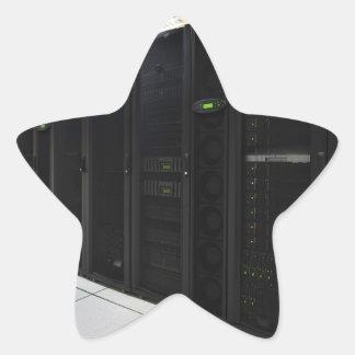 data center computers star sticker
