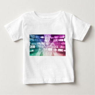 Data Center with System Administrator Navigating Baby T-Shirt
