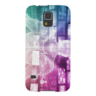 Data Center with System Administrator Navigating Case For Galaxy S5