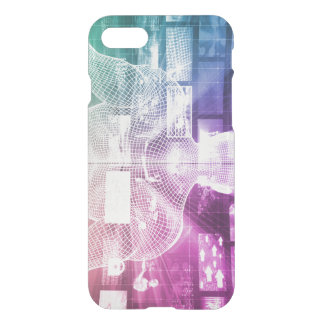 Data Center with System Administrator Navigating iPhone 7 Case