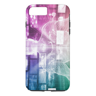 Data Center with System Administrator Navigating iPhone 7 Plus Case