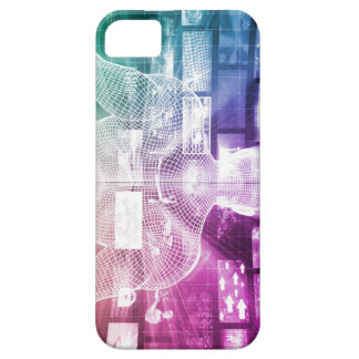 Data Center with System Administrator Navigating iPhone SE/5/5s Case