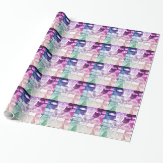Data Center with System Administrator Navigating Wrapping Paper