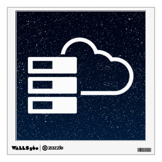 Data Clouds Symbol Wall Decal