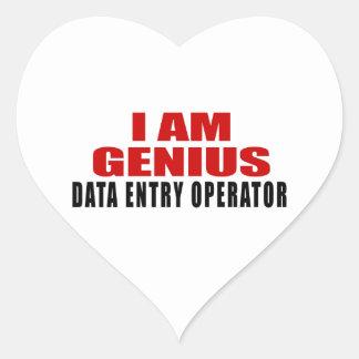 DATA ENTRY OPERATOR DESIGNS HEART STICKER