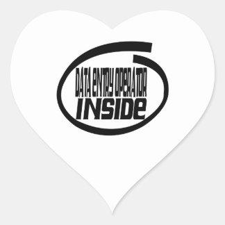 Data Entry Operator Inside Heart Sticker