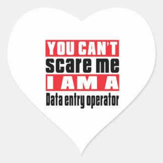 Data entry operator scare designs heart sticker