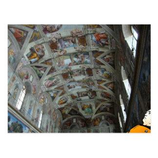 Data in the Sistine Chapel Postcard