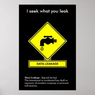 Data Leakage Security Awareness Poster