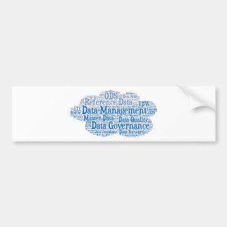 Data Management Cloud.jpg Car Bumper Sticker