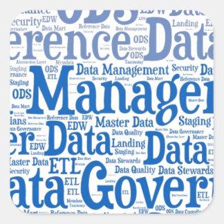 Data Management Cloud.jpg Square Sticker
