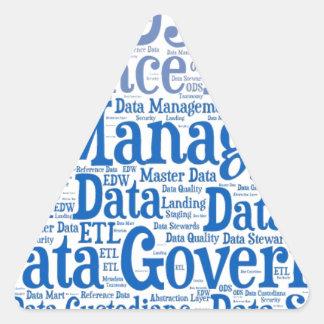 Data Management Cloud.jpg Triangle Sticker