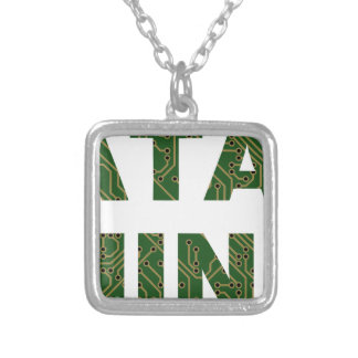 Data Mining Silver Plated Necklace