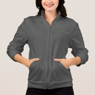 Data Modelers Anonymous - Full Zip - Green on Gray Printed Jacket