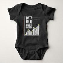 Data Nerd Behavior Analyst Statistics Scientist Baby Bodysuit
