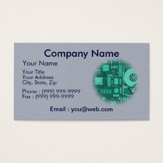 data processing - breakdown service - code business card