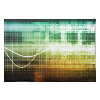 Data Protection and Internet Security Scanning Cloth Placemat