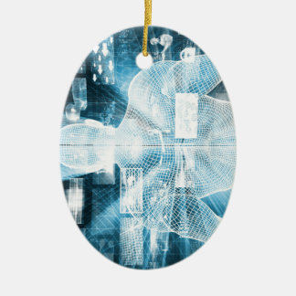 Data Protection and System Integrity as a Concept Ceramic Ornament
