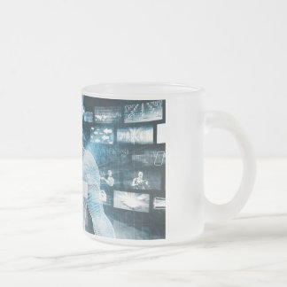 Data Protection and System Integrity as a Concept Frosted Glass Coffee Mug