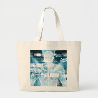 Data Protection and System Integrity as a Concept Large Tote Bag
