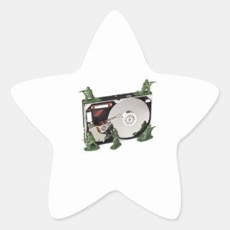 Data protection star sticker