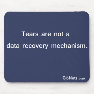 Data Recovery Mechanism Mousepad