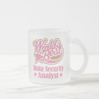 Data Security Analyst Frosted Glass Coffee Mug