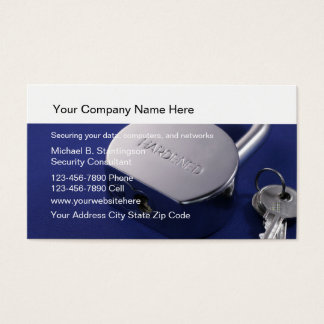 Data Security Business Cards