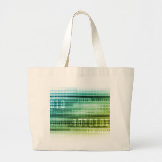 Data Security over the Internet and Personal Info Large Tote Bag