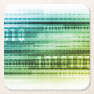 Data Security over the Internet and Personal Info Square Paper Coaster