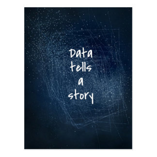Data Tells a Story - Geek Postcard