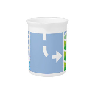 Data Transfer Vector Beverage Pitcher