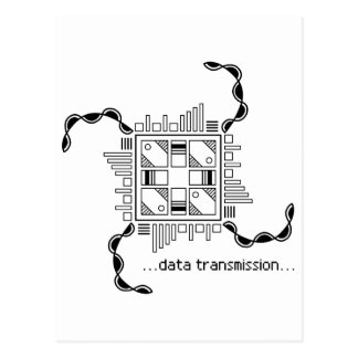 Data Transmission Postcard