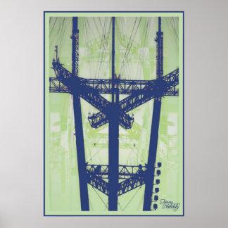 Data-Whure (blu/green) Print
