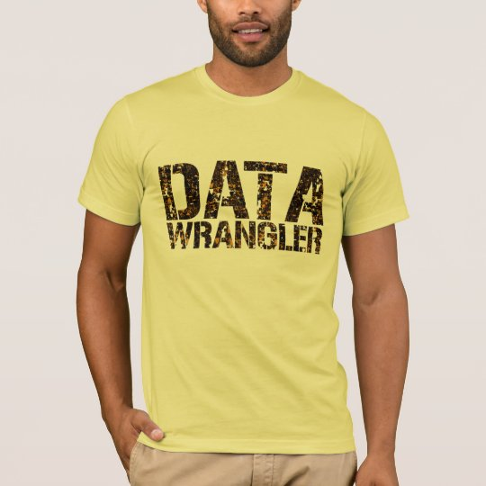 DATA WRANGLER T-shirt w. brown shades design