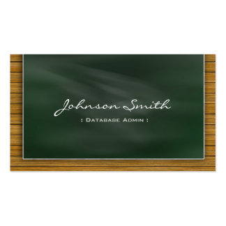 Database Admin - Cool Chalkboard Business Cards