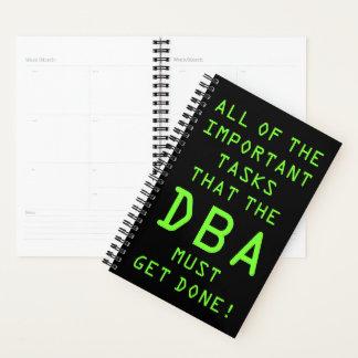 Database Admin (DBA): Important Tasks Planner