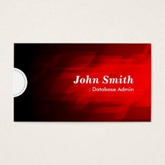 Database Admin - Modern Dark Red Business Card