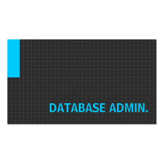 Database Admin- Multiple Purpose Blue Business Card Templates