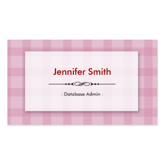 Database Admin - Pretty Pink Squares Business Card