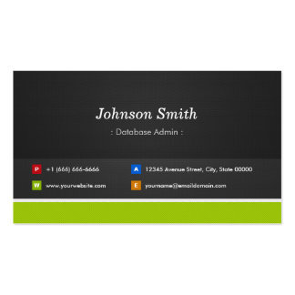 Database Admin - Professional and Premium Business Card Template