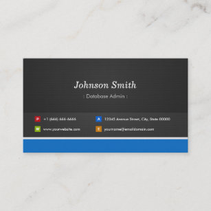 Database business cards templates zazzle database admin professional customizable business card reheart Images