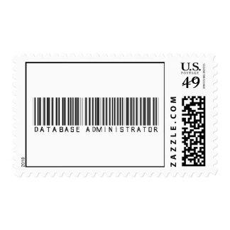 Database Administrator Bar Code Postage Stamp