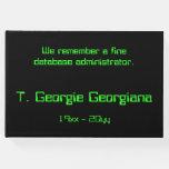 [ Thumbnail: Database Administrator Condolences Guestbook ]