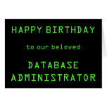 "[ Thumbnail: Database Administrator (Dba) ""Happy Birthday"" Card ]"