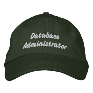 Database administrator embroidered baseball hat