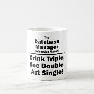 database manager coffee mug