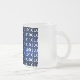 Database System for Reports and Data Analysis Frosted Glass Coffee Mug