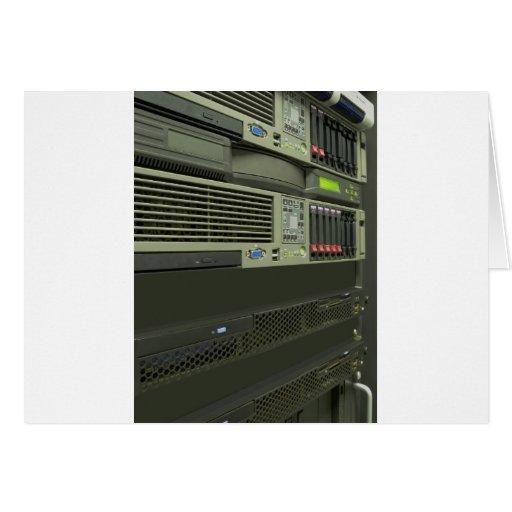 datacenter computer servers rack card